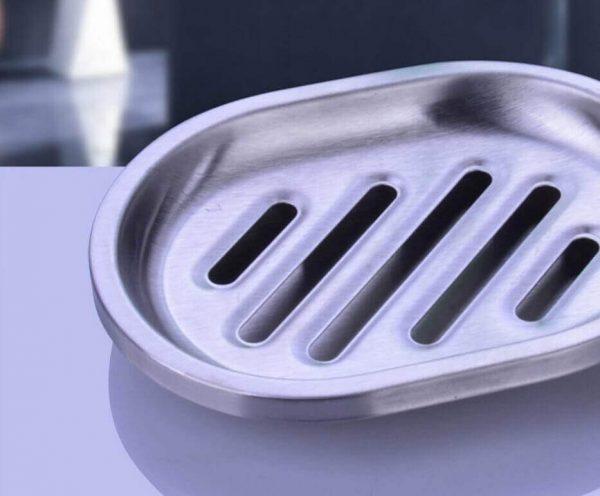 Juego de baño 4 piezas METAL acero inoxidable ecológico, sostenible, comprar sin plástico, sin plástico, de fácil drenaje