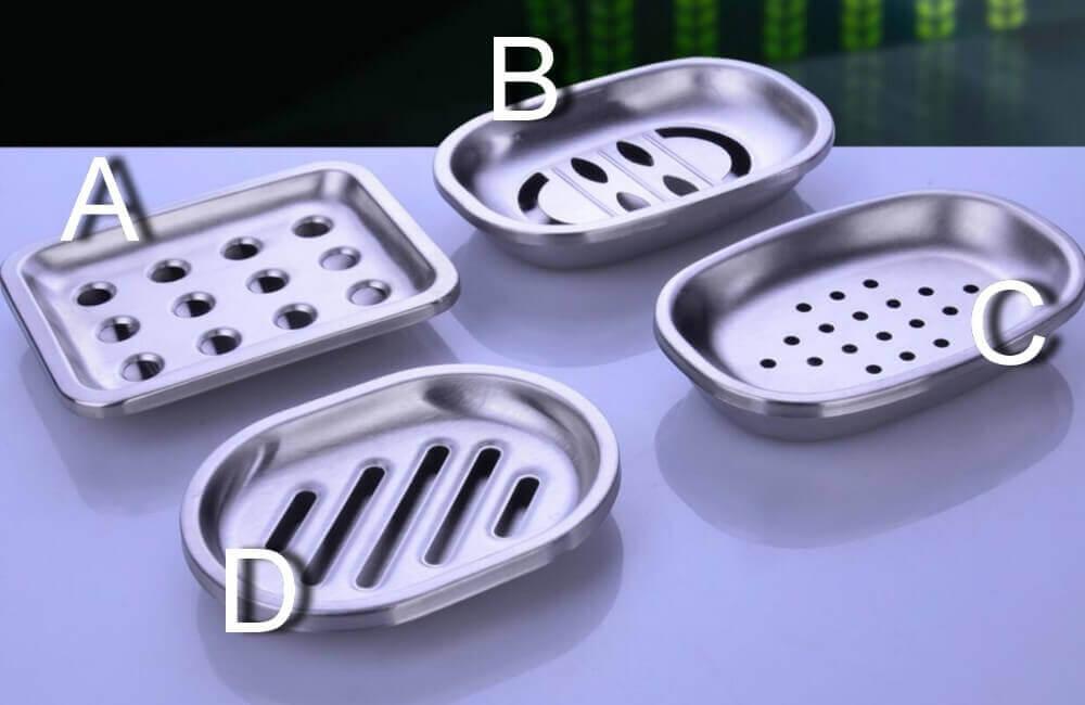 Juego de baño 4 piezas METAL acero inoxidable ecológico, sostenible, comprar sin plástico, sin plástico, varios modelos de metal