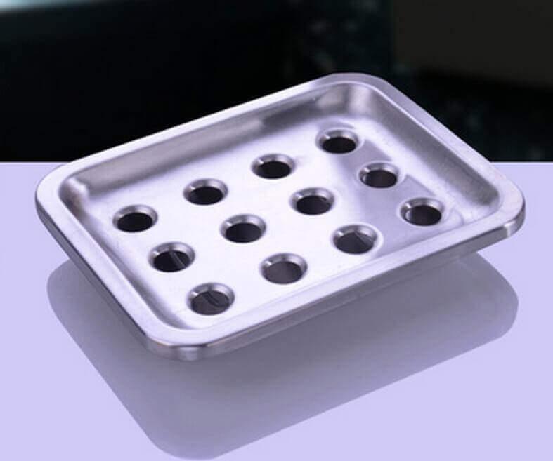 Juego de baño 4 piezas METAL acero inoxidable ecológico, sostenible, comprar sin plástico, sin plástico, rejilla para evacuar el agua