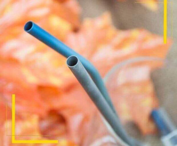 Pajita Puro TITANIO Formas y Colores color sostenible y natural METAL-fondo-hojas-curvadas puntas-redondeadas para adultos para beber