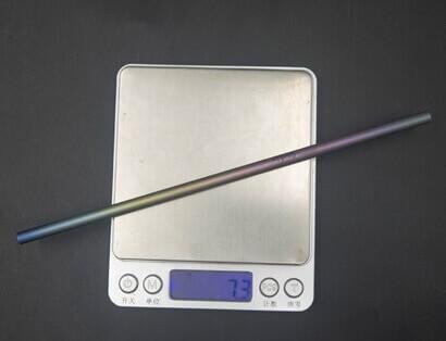 Pajita Puro TITANIO Formas y Colores color sostenible y natural poco-peso-gramos-ligero super libiana