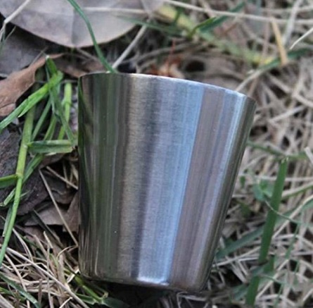 4 VASOS METAL ACERO INOXIDABLE 1 ECOLÓGICO SOSTENIBLE