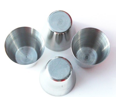 4 VASOS METAL ACERO INOXIDABLE 4 ECOLÓGICO SOSTENIBLE