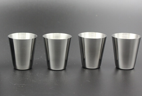 4 VASOS METAL ACERO INOXIDABLE ECOLÓGICO SOSTENIBLE