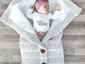 Saquito dormir ALGODÓN bebe recién nacido, sin plástico, comprar sin plástico, puericultura, suave, resistente. invierno