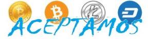 bitcoin litecoin bch cash dash ACEPTAMOS AZUL btc ltc