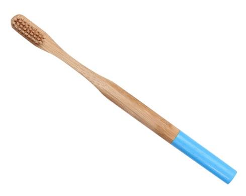 cepillo bambu natural redondo adulto azul sostenible reciclable