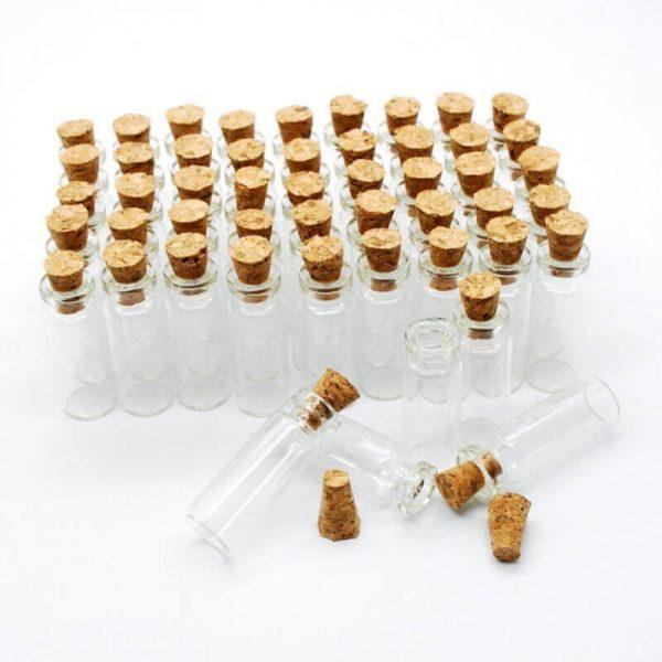 10 Mini Botes CRISTAL corcho ecológico sin plástico sinplastico sostenible anti plástico reciclable bio natural COMPRAR SIN PLÁSTICO