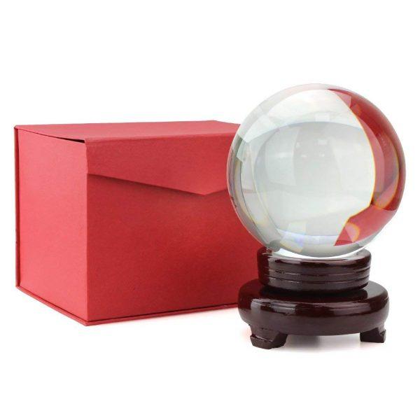 Bola de Cristal 10cm caja ecológico sin plástico sinplastico sostenible antiplastico