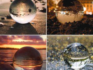 Bola de Cristal 8cm mano ecológico sin plástico sinplastico sostenible antiplastico