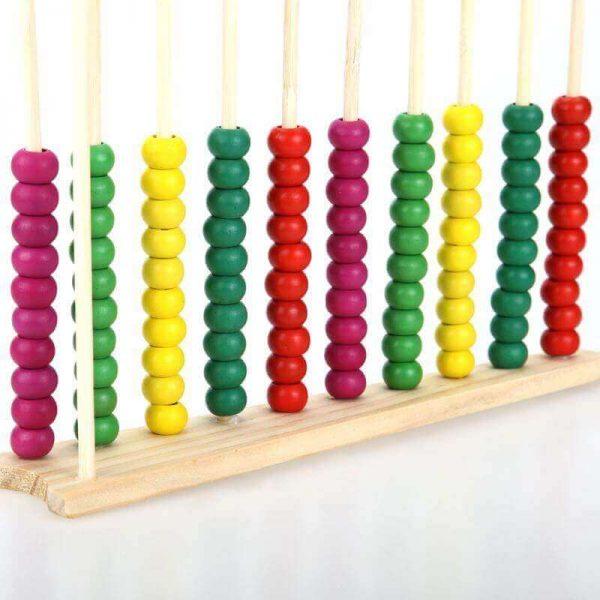 Ábaco MADERA matemáticas, materia prima natural, sostenible y ecológica, para niños y juegos, para todos los públicos