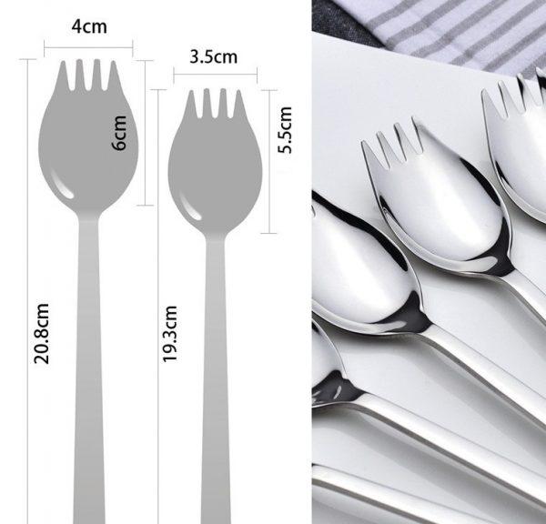 Tenedor Cuchara Metal para Paella cubierto selecto elegante natural y sostenible medidas tenedorcuchara
