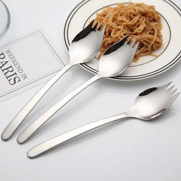 Tenedor Cuchara Metal para Paella cubierto selecto elegante natural y sostenible