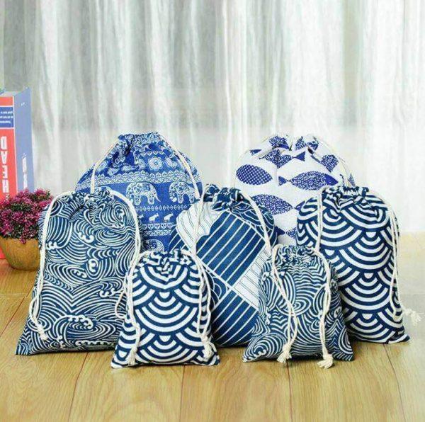 Bolsa ALGODÓN 3 Tamaños diferentes, bolso almacenaje materia prima natural SIN PLÁSTICO, asi son los modelos