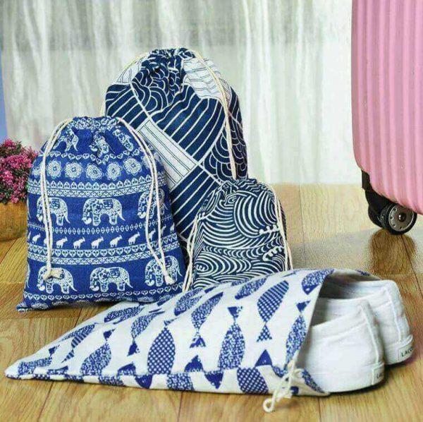 Bolsa ALGODÓN 3 Tamaños diferentes, bolso almacenaje materia prima natural SIN PLÁSTICO, ejemplo para guardar zapatillas