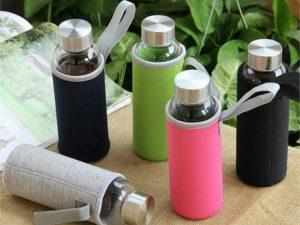 Botella-CRISTAL-y-ACERO-Portátil-Colores comprar sin plástico