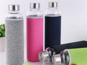 Botella-CRISTAL-y-ACERO-Portátil-Colores-5-colores comprar sin plástico