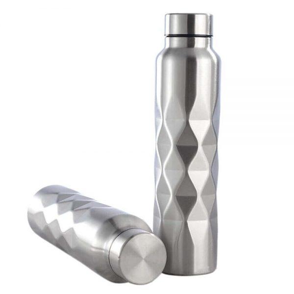 Botella METAL Diseño 1L única, elegante, para deportistas, para viajar. SIN PLASTICO. Ecológica, sostenible y metálica