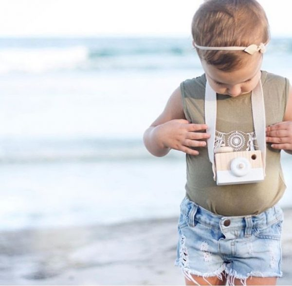 Cámara-Fotos-MADERA-niños-blanca-niño comprar sin plástico ecológico sostenible natural