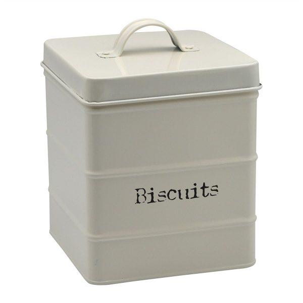 Caja Galletas METAL rectangular crema comprarsinplastico comprar sin plástico comprar con bitcoin