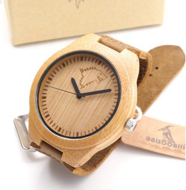 Reloj-BAMBÚ-y-CUERO-Lobo-ECOLÓGICO comprar sin plástico moda elegante btc