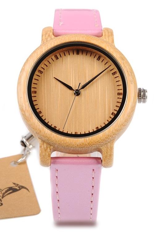 Reloj-BAMBÚ-y-CUERO-Rosa-frontal.jpg comprar sin plástico moda elegante btc