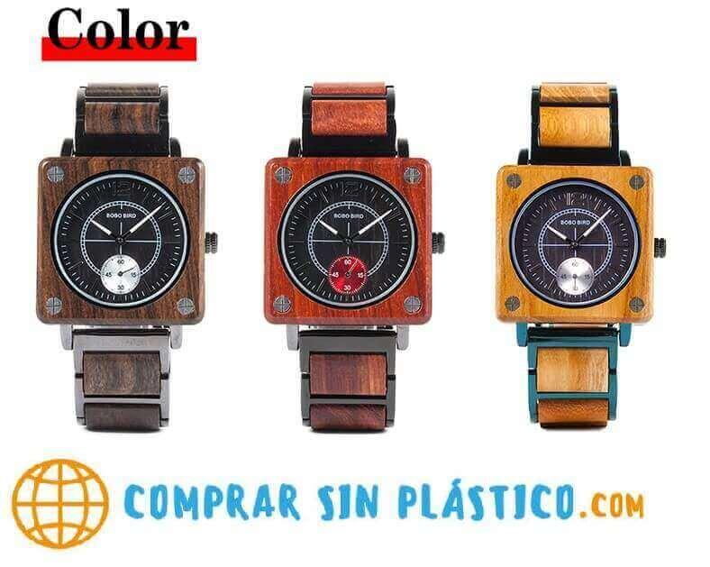 Reloj elegante, comprar sin plástico, moda sostenible, 3 colores