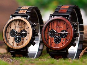 Reloj Informal de MADERA cronógrafo cronómetro y calendario. Comprar SIN Plástico, Reloj para gente deportista