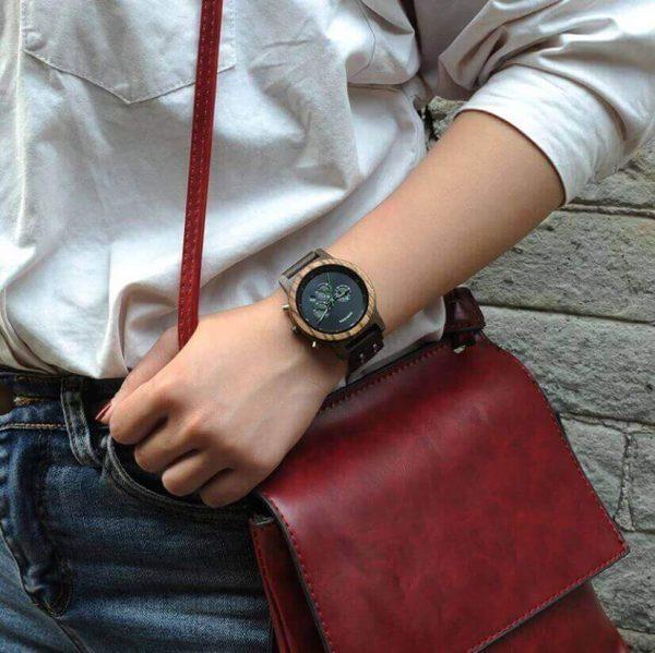 Reloj MADERA de Diseño Actual, materiales nobles, el tiempo en tu mano, tiempo exacto, para pasear