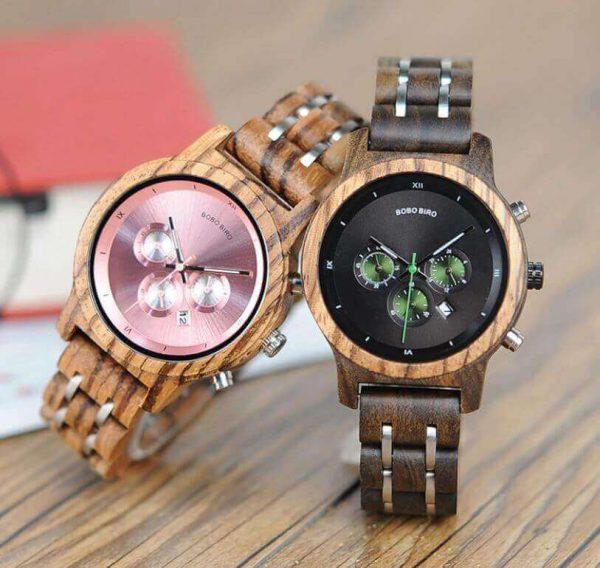Reloj MADERA de Diseño Actual, materiales nobles, el tiempo en tu mano, tiempo exacto, 2 modelos