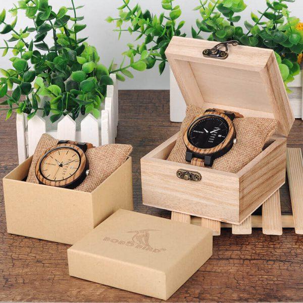 Reloj Moda de MADERA sostenible, sin plástico, natural, comprar sin plástico, mecanismo de cuarzo; el reloj perfecto