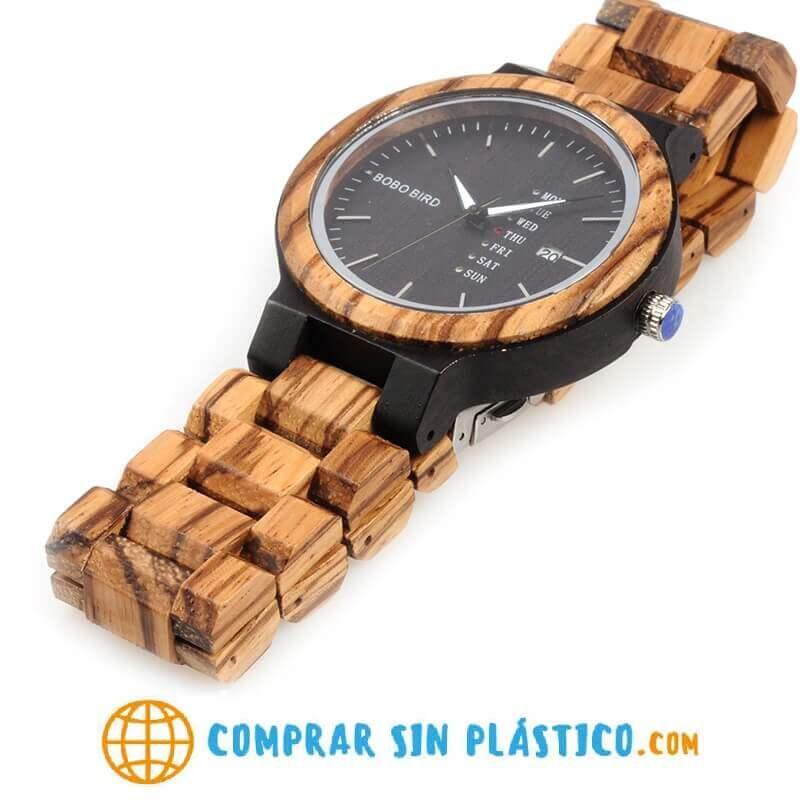 Reloj Moda de MADERA sostenible, sin plástico, natural, comprar sin plástico, mecanismo de cuarzo; reloj para toda la vida