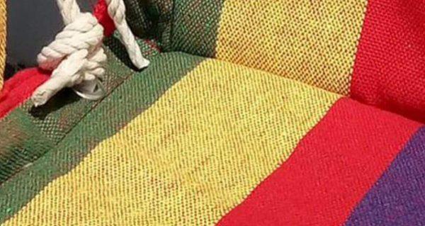 Silla Colgante Tela de ALGODÓN Colores, sin plástico, ecológica, sostenible, suave, cómoda, tela densa y fuerte y duradera