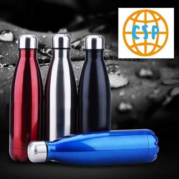 Botella de Agua METAL Doble Pared Colores, ecológica y sostenible, no contamina, Comprar SIN Plástico, sinplastico