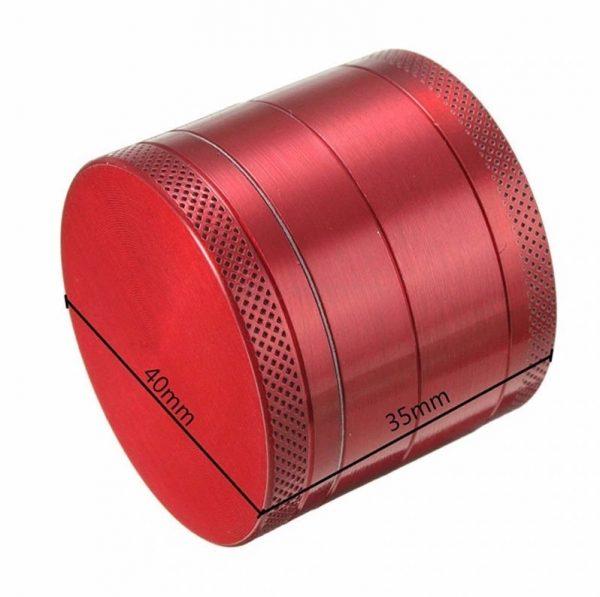 Grinder Aluminio triturador 4 alturas 4 colores rejilla MEDIDAS