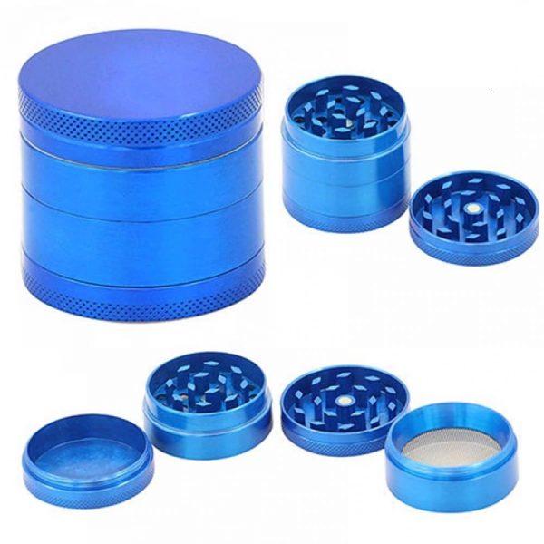 Grinder Aluminio triturador 4 alturas 4 colores rejilla color azul