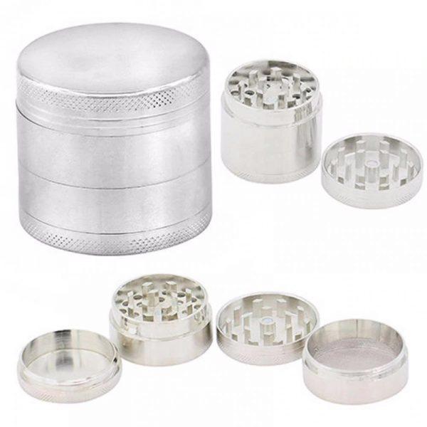 Grinder Aluminio triturador 4 alturas 4 colores rejilla color plata