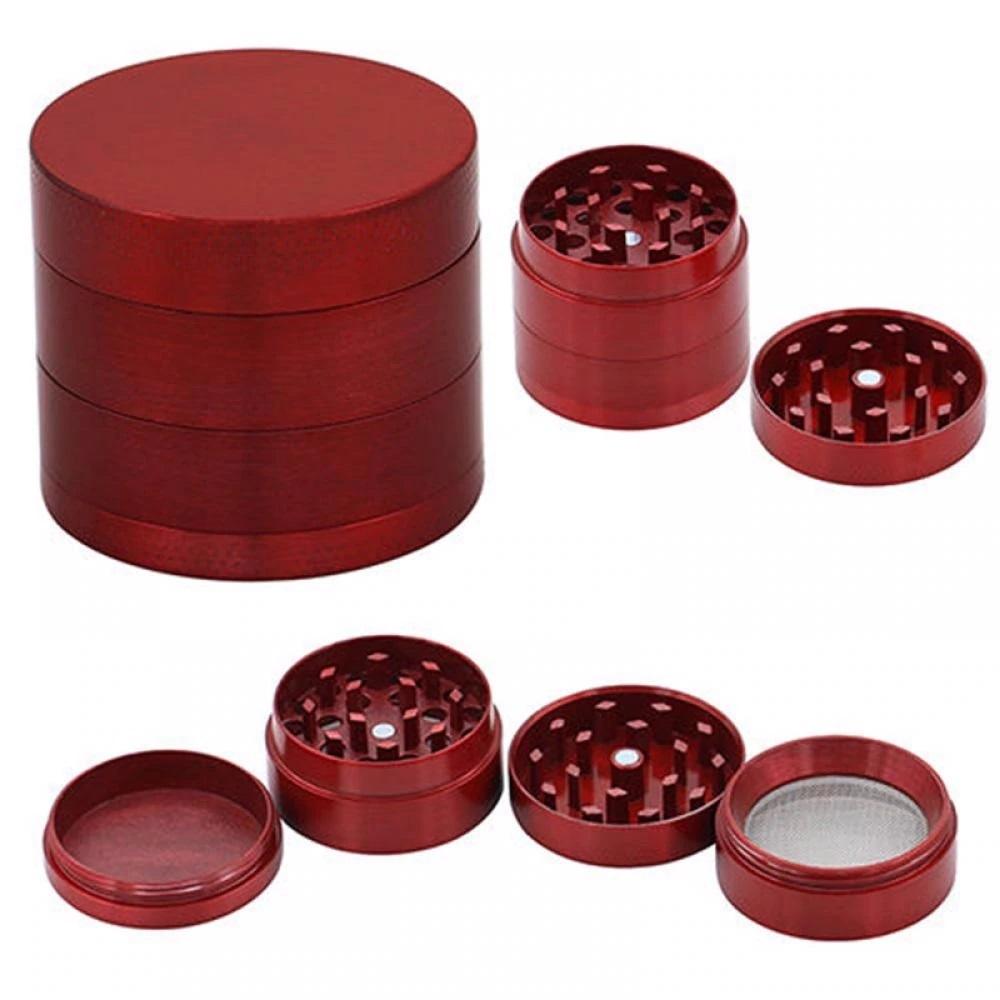 Grinder Aluminio triturador 4 alturas 4 colores rejilla color rojo CSP