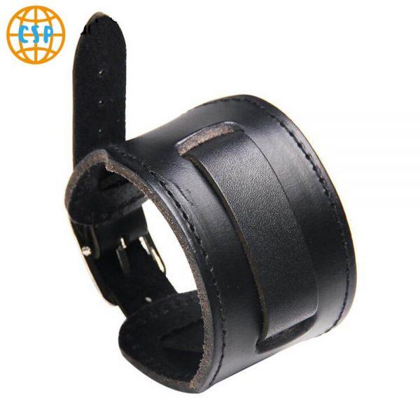 Pulsera de Cuero 1 Banda cuero color negro