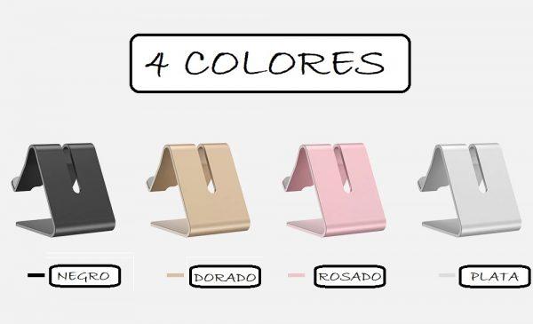 Soporte METAL para Movil y Tablet 4 colores