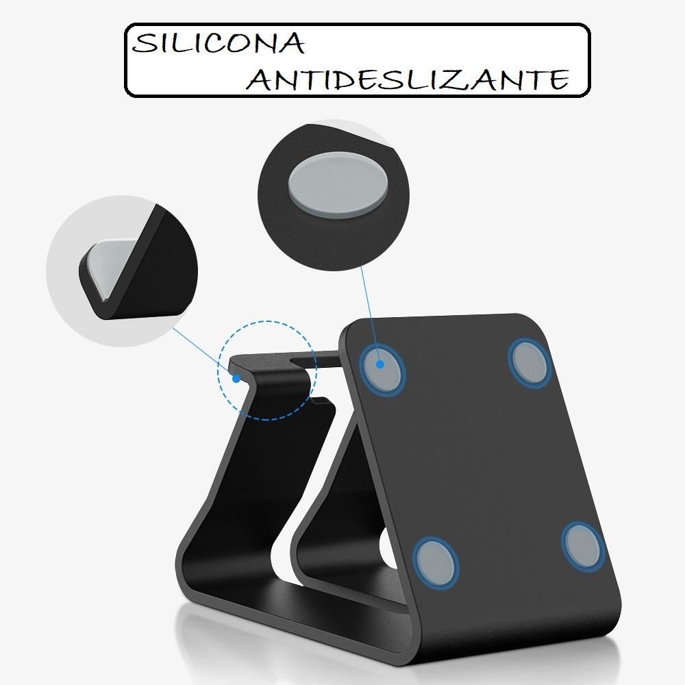 Soporte METAL para Móvil y Tablet silicona ecológica