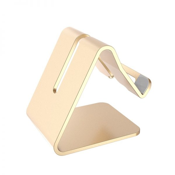 Soporte METAL para Móvil y Tablet sujeta telefono y tablet color dorado