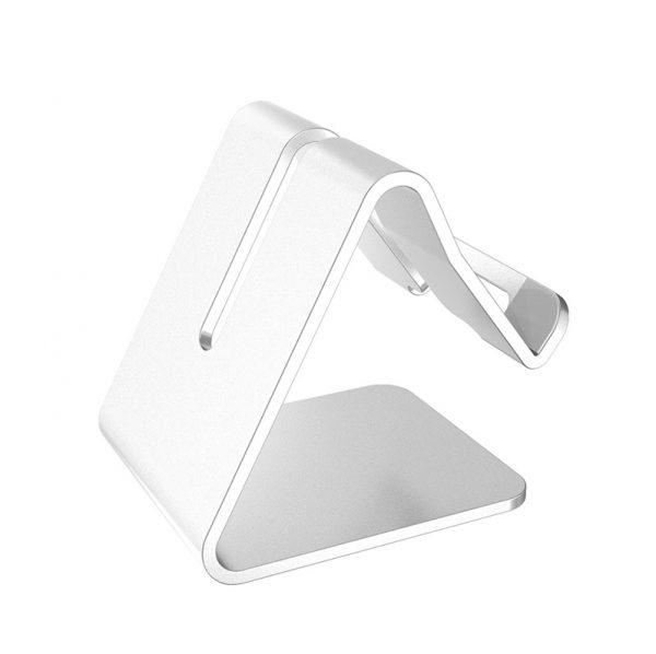 Soporte METAL para Móvil y Tablet sujeta telefono y tablet color plata acero
