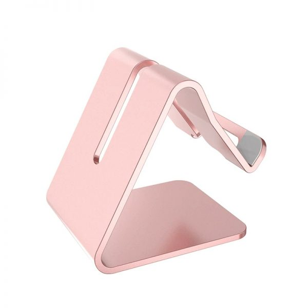 Soporte METAL para Móvil y Tablet sujeta telefono y tablet color rosado