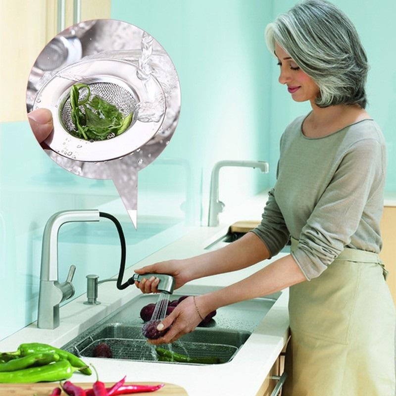 Tapa Colador METAL fregadero redonda detalle agua cocina y lavabo comprar sin plástico