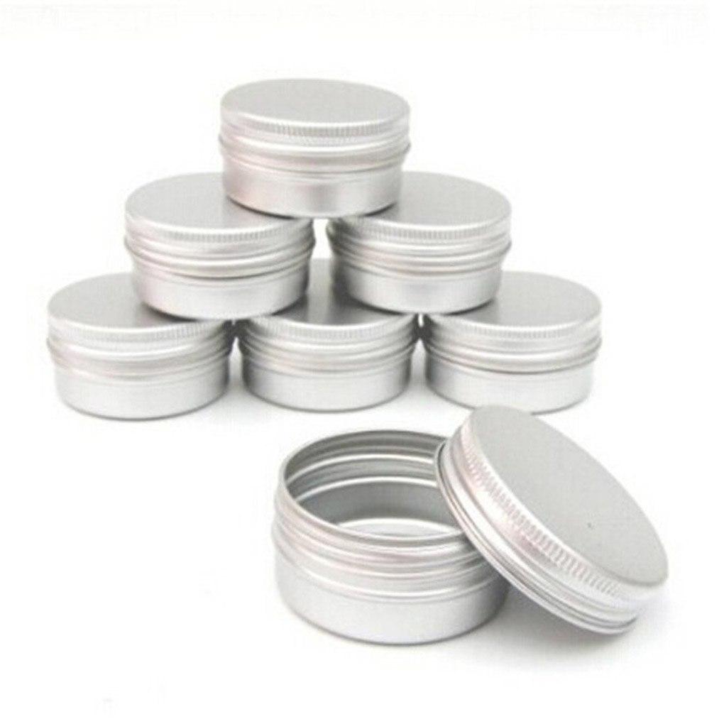 10 cajitas redondas de ALUMINIO reciclables y sostenibles y ecológicas cremas y secretos