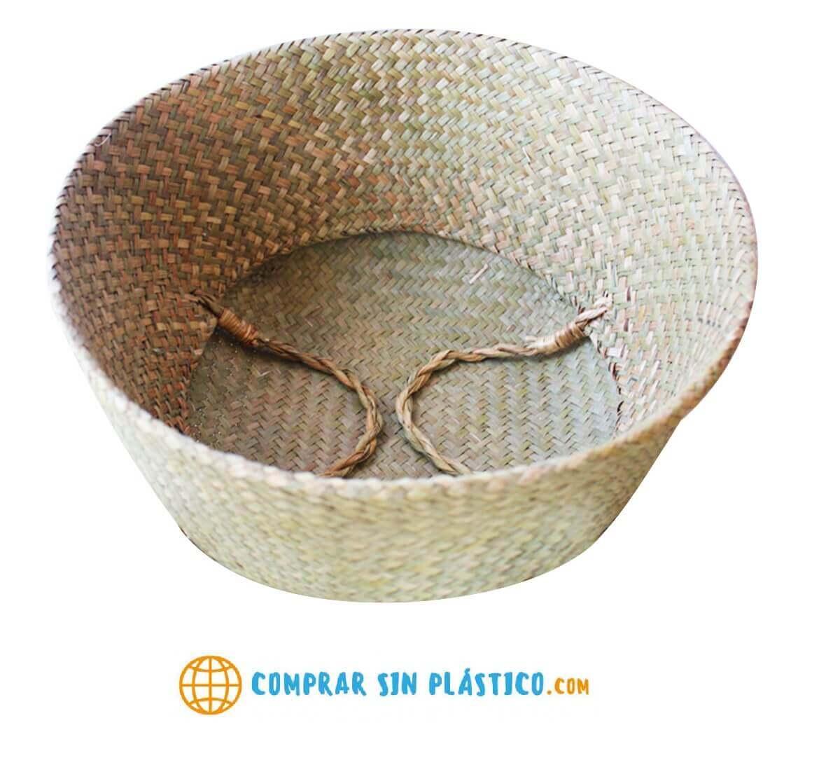 Bolso Tejido Fibras Naturales, ecológico, sostenible, natural, único y respeta el medio ambiente. Plegable