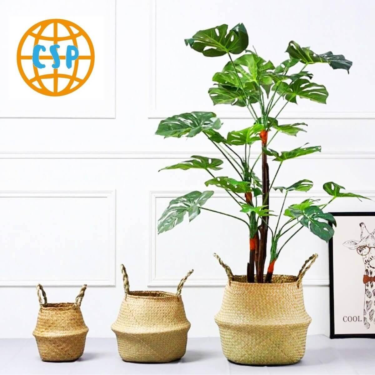 Bolso Tejido Fibras Naturales, ecológico, sostenible, natural, único y respeta el medio ambiente; juego de 3