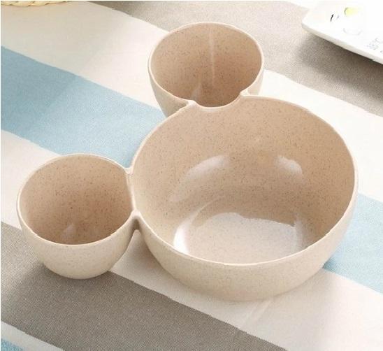 Plato de TRIGO prensado Mick Mouse beige miki comprar sin plastico