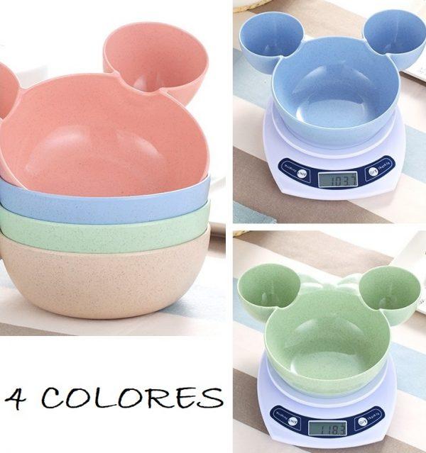 Plato de TRIGO prensado Mick Mouse peso comprar sin plastico sostenible